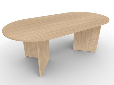 AVALON37 Avalon Double D End Panel Desk, Verade Oak, 17 Finishes, Free Delivery And Installation