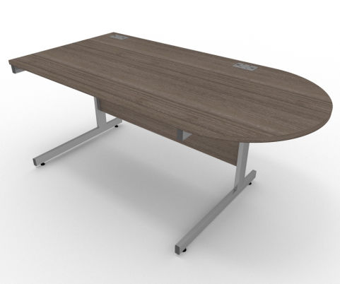 AVALON57 Avalon Right Hand Desk With D Meeting End, Anthracite, 5 Year Warranty, Free Delivery