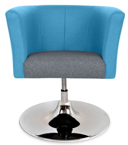 Axisn Tub Chair With A Trumpet Base Front View