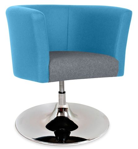 Axis Tub Chair With A Trumpet Base Angle View