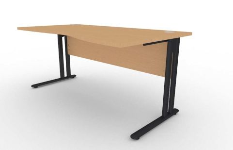 Optimize Right Hand Wave Desk In Beech V2