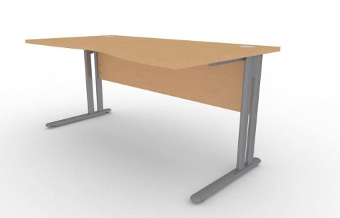 Optimize Right Hand Wave Desk In Beech
