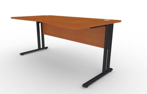 Optimize Right Hand Wave Desk In Cherywood V2