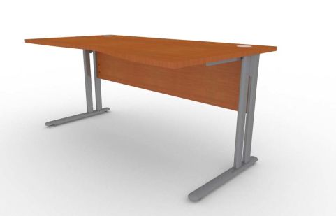 Optimize Right Hand Wave Desk In Cherywood