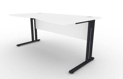 Optimize Right Hand Wave Desk In White V2