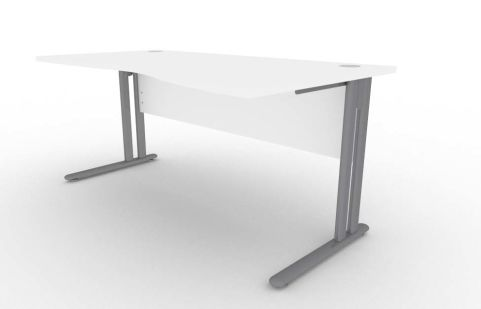 Optimize Right Hand Wave Desk In White