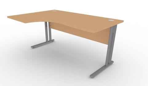 Optimize Left Hand Corner Desk In Beech