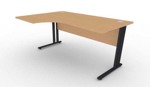 Optimize Left Hand Corner Desk In Beech V2