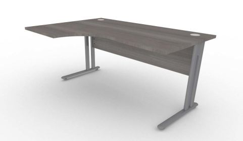 Optimize Left Hand Corner Desk In Cedar