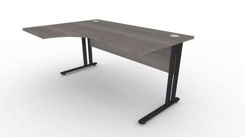 Optimize Left Hand Corner Desk In Cedar V2