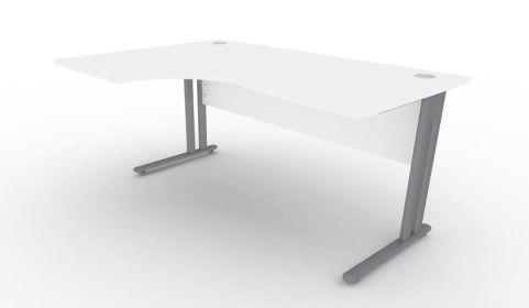 Optimize Left Hand Corner Desk In White