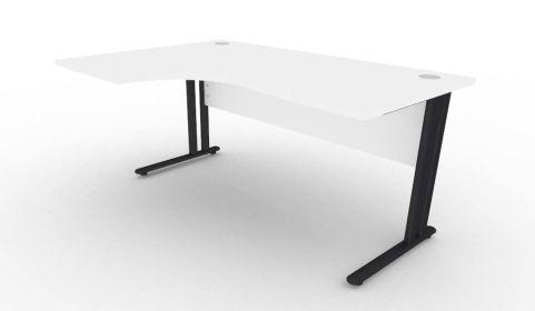 Optimize Left Hand Corner Desk In White V2