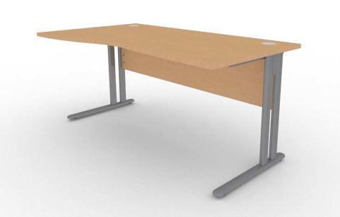 Optimize Left Hand Wave Desk In Beech