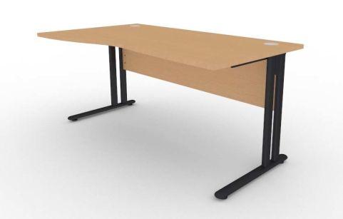 Optimize Left Hand Wave Desk In Beech V2