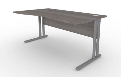 Optimize Left Hand Wave Desk In Cedar