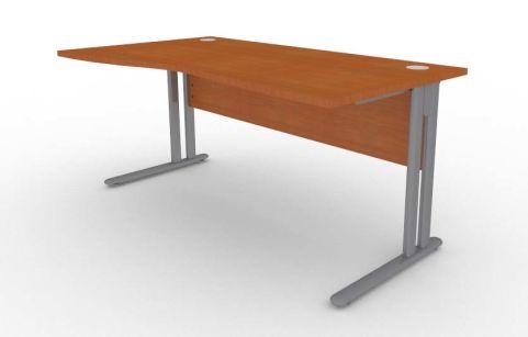 Optimize Left Hand Wave Desk In Cherywood