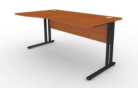Optimize Left Hand Wave Desk In Cherywood V2