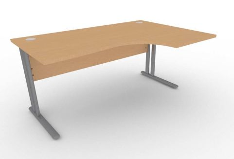 Optimize Right Hand Corner Desk In Beech