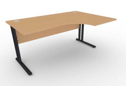 Optimize Right Hand Corner Desk In Beech V2