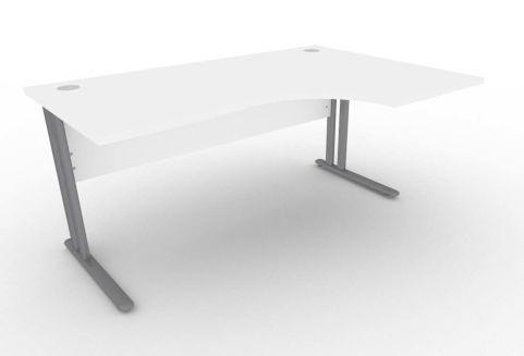 Optimize Right Hand Corner Desk In White