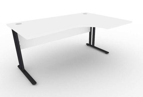 Optimize Right Hand Corner Desk In White V2