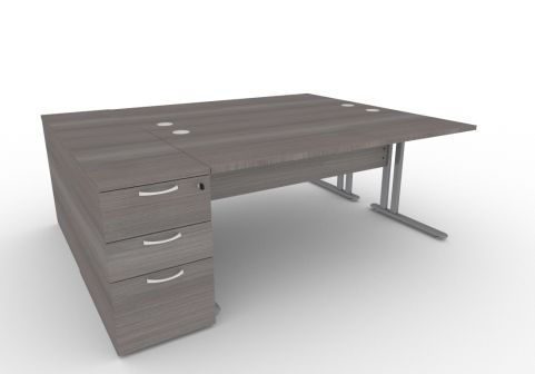 Optimize Two Person Desk Bundle Deal In Cedar