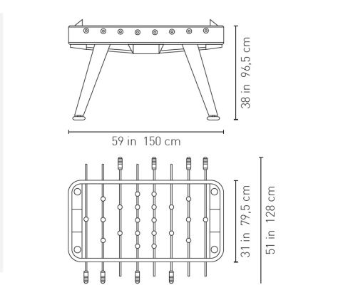 RS Table Football Dimensions