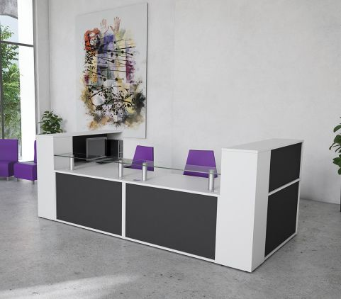 Black And White Re4cption Desk