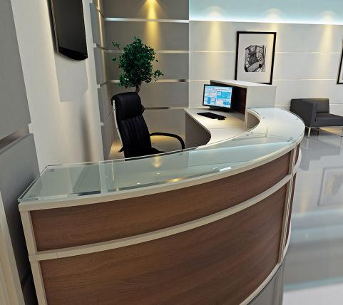 Avalon Reception Desk Curved