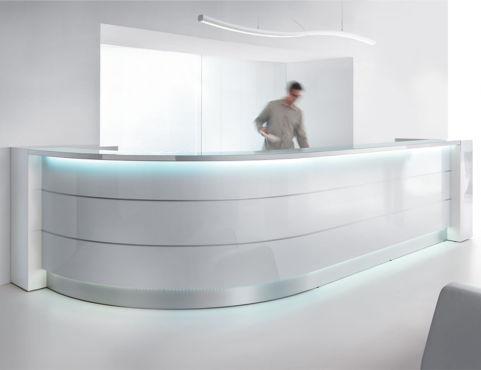 Valde Curved Desk White