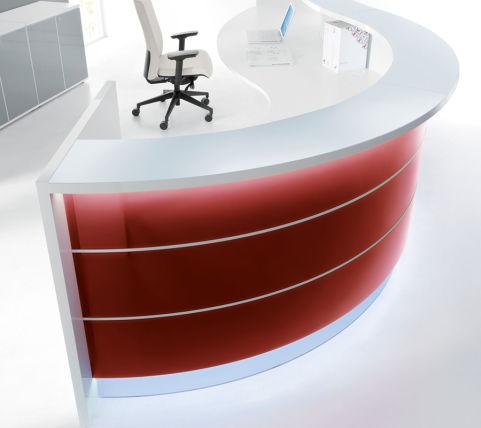 Valde Curved Reception Desk