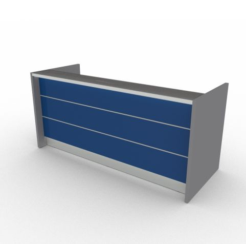 VALDE RECEPTION DESK BLUE