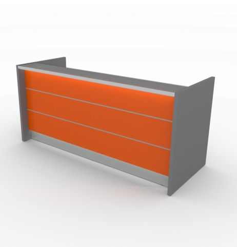 Valde Orange Straight Reception Desk