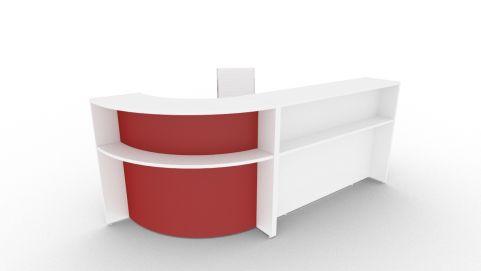Bienvenue 2660 Desk White & Red Front