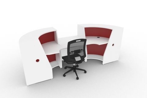 Bienvenue 850 Desk White And Red Back