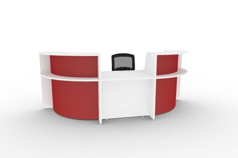 Bienvenue 850 Desk White And Red