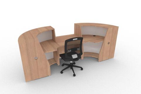 Bienvenue 850 Desk Santiago Cherry Back