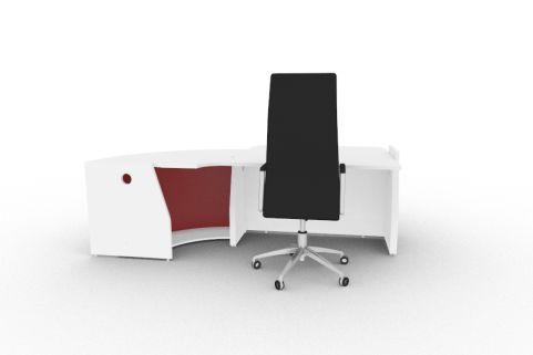 Bienvenue Desk Red And White Back