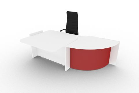 Bienvenue Desk Red And White