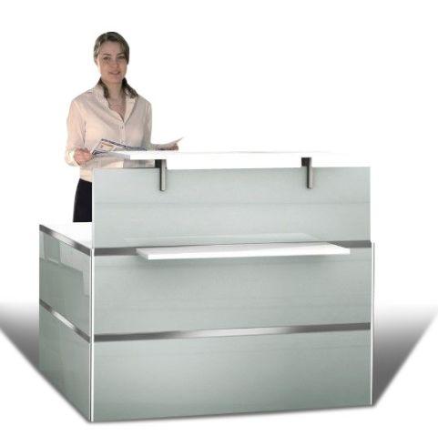 Capri Glass Reception Desk Compilation 1