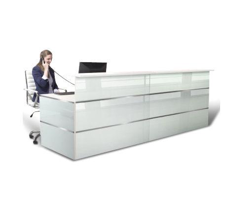 Ca[pri Glass Reception Desk