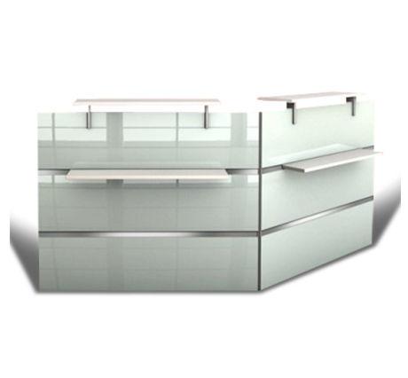 Capri Glass Rception Desk 2