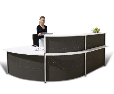 Deco Metal Reception Desk Ex 6