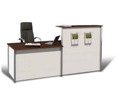 Deco Metal Reception Desk Ex 7