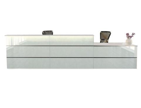 Capri Glass Reception Desk 7