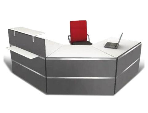 Capri Anthractite Reception Desk 2