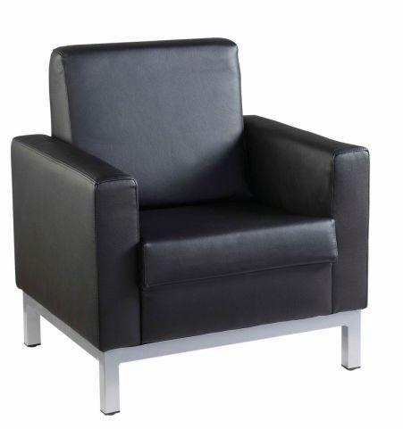 Nebraska Single Seater Black Leather