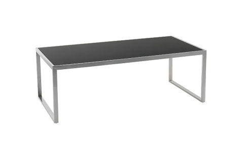 Black Toughned Glass Coffee Table