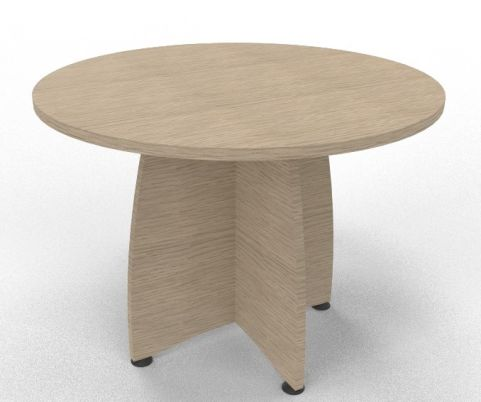 OPTIMIZE ROUND MEETING TABLE Bleached Oak