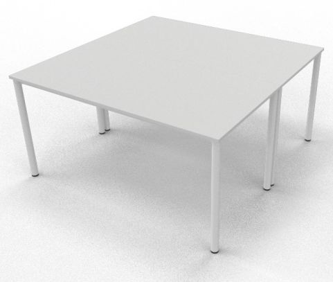 2 X C36 White Board Room Table